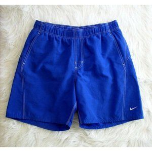 Nike Mens Cobalt Blue Swim Trunks Sz LG
